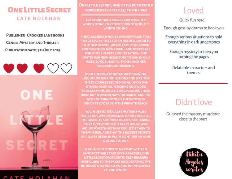 One Little Secret - Cate Holahan Quick Review