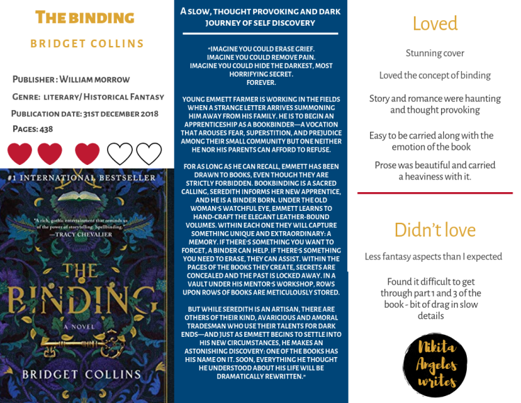 The Binding - Bridget Collins Quick Review