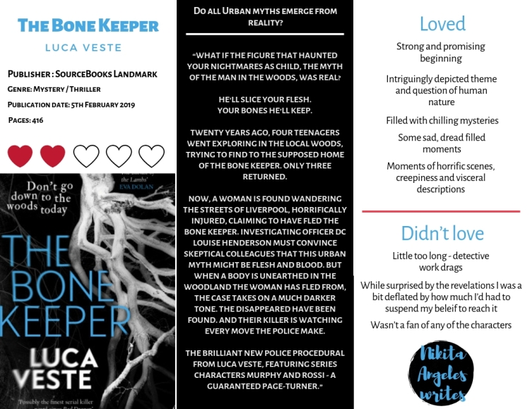 The bone keeper - Luca Veste Quick Review