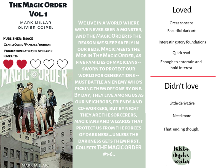 The magic order vol 1. - Mark Millar and Olivier Coipel Quick Review