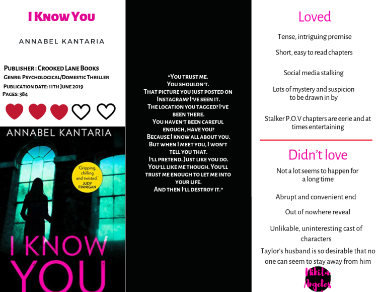 I Know You - Annabel Kantaria Quick Review