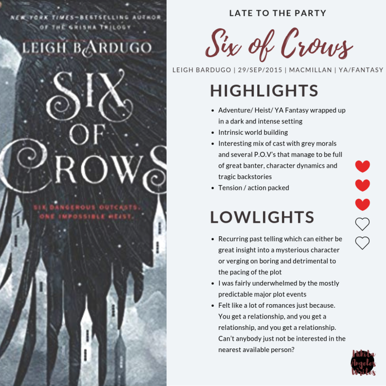 LTTP - Six Of Crows by Leigh Bardugo Book Review