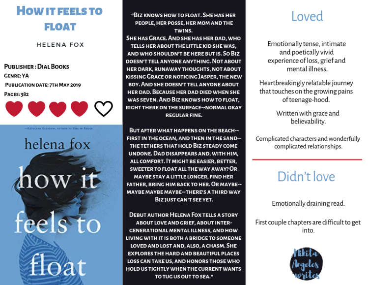 How It Feels To Float - Helena Fox Quick Review